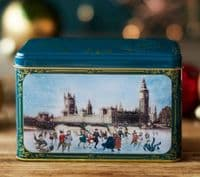 Victorian Christmas Skaters Tea Tin with 40 English Afternoon Teabags
